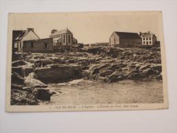 Ile De Sein Entrée Du Port Coté Ouest 1948 - Ile De Sein