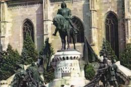 CPA CLUJ NAPOCA- KING MATTHIAS CORVIN MONUMENT - Roumanie