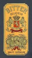 Etiquette De Liqueur: Bitter Delicieux. Decoupee (7´5 X 16 Cms) (Ref.73709) - Labels