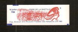 France, 2376-C12, Carnet Neuf, Non Ouvert, TTB, Prise De La Bastille, SEUL Carnet ILLUSTRE De La Série, Carnet Liberté - Carnets