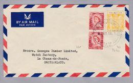Neuseeland 1959-08-21 EAST LINWOOD Nach La Chaux De Fonds Frei Porto Misch Frankatur - Nouvelle-Zélande