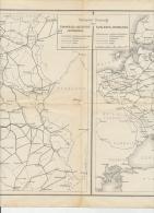 2 RAILWAY MAPS WWI Belgium Northern France Luxembourg Russia + Germany Austria Hungary Eisenbahnkarten - Europe