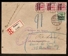 AANGETEKENDE Brief Met Bezetting Nr. OC3 (strip Van 3) En OC2 Verzonden Te BRUSSEL Dd. 22/5/1815 Met RETOUR ! - WW I