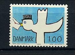 "Danemark ** N° 821 - Dessin D´enfant . ´l´oiseau Facteur"" - Nuovi"
