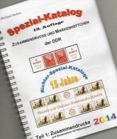 RICHTER 2014 DDR-Katalog Teil 1 ZD New 25€ Varianten Zierfelder Leerfelder Ränder Se-tenant Special Catalogue Of Germany - Cataloghi