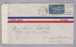 Kuba CUBA 1945-?-02 Habana Zensurbrief Nach Windsor Ontario Canada - Lettres & Documents