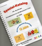 RICHTER 2014 DDR-Katalog Teil 2 Markenheftchen New 25€ Heftchen: MH + Abarten Booklet+error Special Catalogue Of Germany - Cataloghi