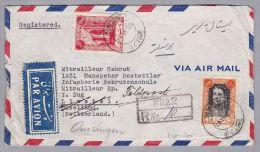 IRAN Persien ARAK 1947-11-28 R-Brief Nach Liestal CH - Iran