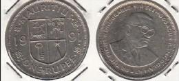 MAURITIUS 1 RUPEE 1991 - KM#55 - Used - Mauritius