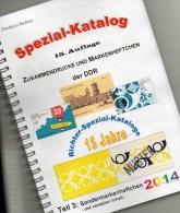 RICHTER 2014 DDR-Katalog Teil 3 Sonder-Markenheftchen New 25€ SMH+Abarten Booklet And Error Special Catalogue Of Germany - Catalogs