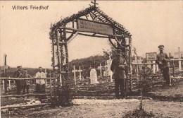 Photocarte Allemande- Villers Friedhof Cimetière Allemand 1915 Régt 68 Belgique ???(guerre14-18)2scans - War 1914-18