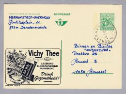 MOTIV Lebensmittel Thee 1970-01-2 Werbe Ganzsache Vichy The - Alimentation