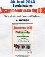 RICHTER 2014 DDR-Katalog Teil 4 ZD-Plattenfehler New 25€ Abarten Se-tenants And Blocs Error Special Catalogue Of Germany - Cataloghi