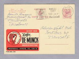 """MOTIV Cafe Koffie 1967-06-01 Werbe Ganzsache """"De Munck"""" - Entiers Postaux"""