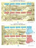 ** TONGA VICTORY IN THE PACIFIC 2 SHEETS MNH II W.W. - WW2