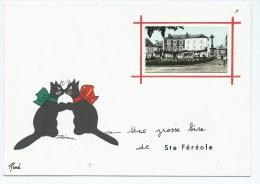 Van@ CP UNE GROSSE BISE DE STE SAINTE FEREOLE, DESSIN CHATS, ILLUSTRATEUR RENE, CORREZE 19 - France