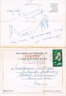 SOUVENIR LETTERCARD OF JERSEY - 6 VIEWS - Bouley Bay, St. Ouen's Bay, La Collette, Bonne Nuit Bay - 4 Scans - Jersey