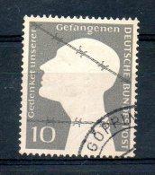 GERMANIA GERMANY 1953 - Prigionieri Di Guerra. Usato - UNIF. Nr. 49 - [7] Federal Republic