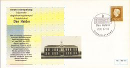 Nederland – FDC - Eerste Stempeldag Filatelieloket - Den Helder - 20 Juni 1987 – Nummer 40 - Poststempels/ Marcofilie