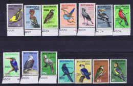 Botswana Stamp Definitive Stamps: Birds Set MNH 1967 Mi 19-32 - Vogels