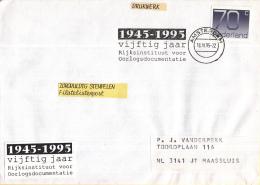 Nederland Vlagstempels – 18 April 1995 – Amsterdam - 1945-1995 Vijftig Jaar Rijksinstituut Voor Oorlogsdocum - Postal History