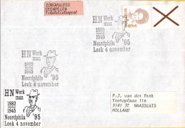 Nederland Gelegenheidsstempels – 4 November 1995 - Leek - Noordphila ´95 - H.N. Werkman 1882-1945 - Poststempels/ Marcofilie