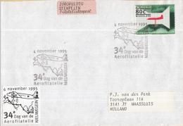 Nederland Gelegenheidsstempels – 4 November 1995 - Nieuwengein - 34e Dag Van De Aerofialtelie - Poststempels/ Marcofilie