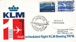 Nederland - 1ste Vlucht - 15 Februari 1971 - Amsterdam-New York - Vl. Hol. 836a - Poststempels/ Marcofilie