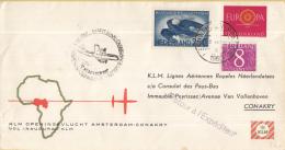 Nederland - 1ste Vlucht - 5 November 1960 - Amsterdam-Conakry - Vl. Hol. 561i - Poststempels/ Marcofilie