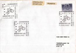 Nederland – Gelegenheidsstempels – 1 - 11 November 1995 – Dronten Flevoland - 18th World Jamboree - Scouting