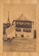 Hilberer Constantin (?-1988) - Dessin à La Mine De Plomb Et Aquarelle - Châlet Et église En Suisse - Dessins
