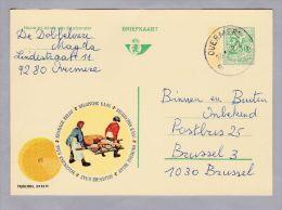 MOTIV Lebensmittel 1972-01-24 Werbe-Ganzsache Belgischer Käse - Entiers Postaux