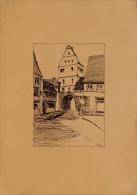 Hilberer Constantin (?-1988) - Dessins à L´encre De Chine - Vue D´un Village En Suisse à Identifier, Bienne Ou Région ? - Dessins
