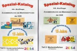RICHTER 2014 DDR Katalog Part 2+3 New 50€ Markenheftchen/SMH+Heftchen Abarten Booklet+error Special Catalogue Of Germany - Otras Colecciones