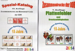 RICHTER 2014 DDR-Katalog Part 1+4 New 50€ ZD+Abart/Plattenfehler Se-tenants And Blocs Error Special Catalogue Of Germany - Otras Colecciones