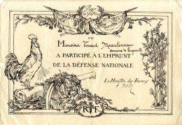 POUR LA PATRIE  -  1915  -  VINCENT MARTINEAU  -  LONGUEVILLE  -  ILLUSTRATION DE NAUDIN  -  MILITARIA - Documents