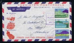Netherlands Antilles 1951 FDC NVPH Nr 262 263, Sealed Flap, Soms Wrinkles, Cat Value 90 Euro - Curaçao, Nederlandse Antillen, Aruba