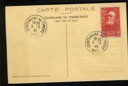 Centenaire Du Timbre 5 Mai 1940  Ø Spéciale De NICE    Souvenir Spécial Du Club - France