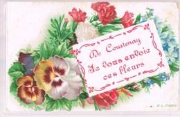 De COURTENAY , Je Vous Envoie Ces Fleurs . - Courtenay