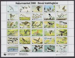 Denmark WWF Panda Issue 1988 Sheet Bird Vogel Oiseau MNH** - Unclassified