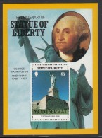 Montserrat MNH Scott #636 $3 George Washington, Statue Of Liberty - Centenary - Montserrat