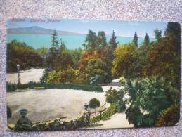 Fiume , 1908. Giardino Publico,  Croatia - Croatie