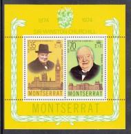 Montserrat MNH Scott #313a Souvenir Sheet Of 2 Sir Winston Churchill - Montserrat