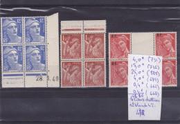 LOT DE TIMBRES DE FRANCE COINS DATTEES NEUF  Nr 731-736-829-689-662-668 **  COTE 48.80€ - 1940-1949