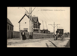 29 - LE CONQUET - Gare Des Tramways - Attelage Cheval - Le Conquet
