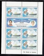 Montserrat MNH Scott #469-#470 Sheet Of 7 $4 Prince Charles, Lady Diana - Royal Wedding - Montserrat