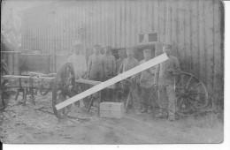 Charrons Atelier Réparations Soldats Allemands 1carte Photo 1914-1918 14-18 Ww1 WwI Wk Poilus - War, Military