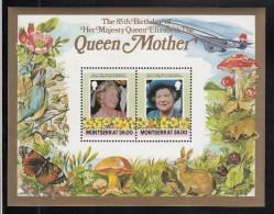 Montserrat MNH Scott #564 Souvenir Sheet Of 2 $6 Queen Mother - 85th Birthday - Montserrat