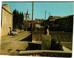 REAUVILLE STELE DU SOLDAT ALBERT ROCHE ,BEAU PLAN CITROEN 2CV ,COULEUR     REF 37591 - Frankreich