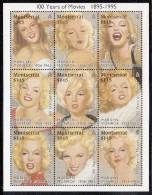 Montserrat MNH Scott #860 Sheet Of 9 Different $1.15 Portraits Of Marilyn Monroe - Montserrat